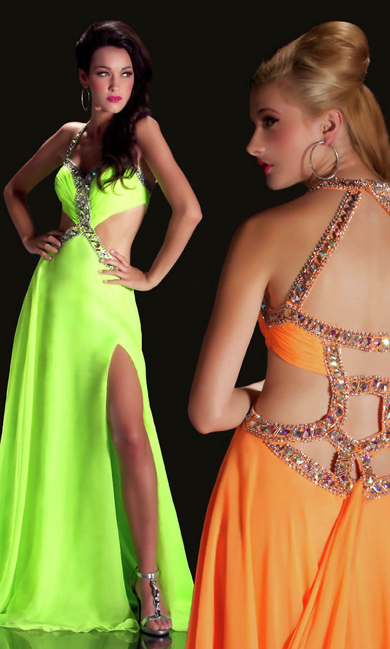 Love this green.  Evening dress