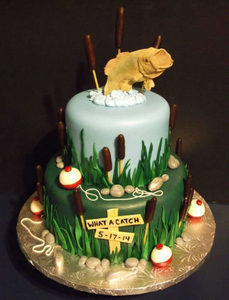 Fishing themed groom cake by tracy 39 s custom cakery cake for Fishing themed cakes