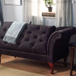 Chaise Lounge Storage Seat Chair Living Room Furniture Loveseat Sofa Home  Black Product Description: With This Chaise Lounge You Can Add  Sophisticated Style ...
