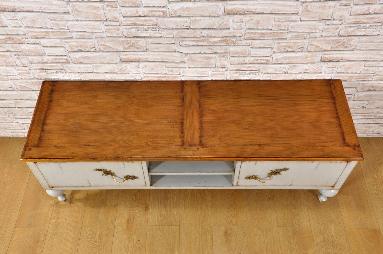 Credenza Per Tv : Porta tv credenza bicolore in legno di ciliegio laccato con gambe