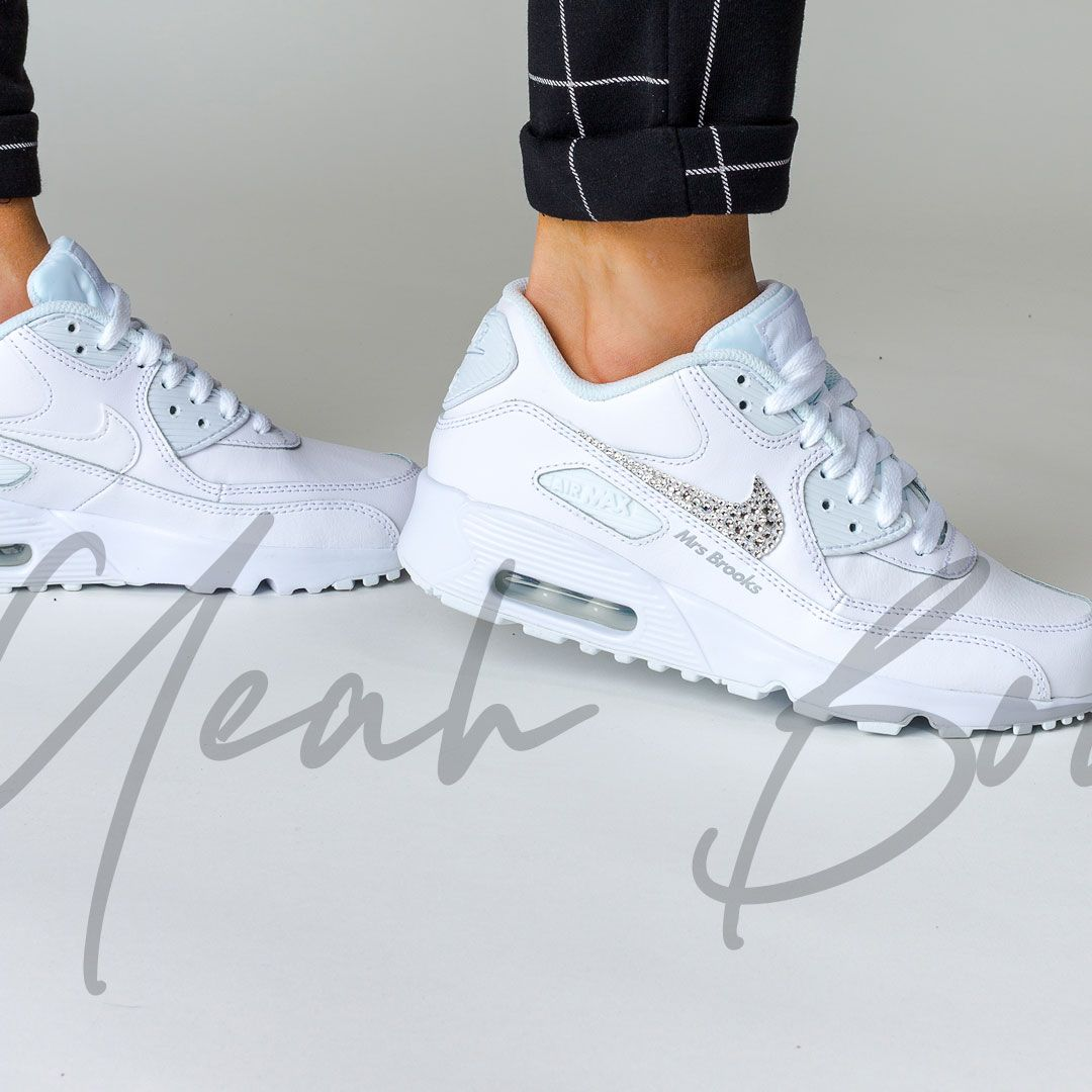 Custom Nike Wedding shoes have landed! If Nike Air Max 90s