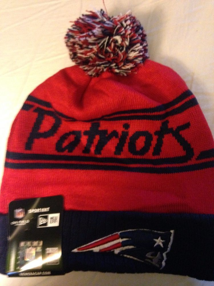 New England  Patriots Winter Beanie Knit On Field Cursive Writing Hat Cap  from  13.95 89fd38657