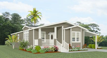 Exterior Rendering Jacobsen Homes Floor Plan Tnr 6563b Manufactured Home Manufactured Homes Floor Plans House Floor Plans