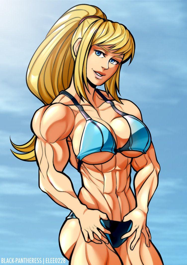Samus By Elee0228 Muscle Girl Art Art Drawings Art Drawing Games