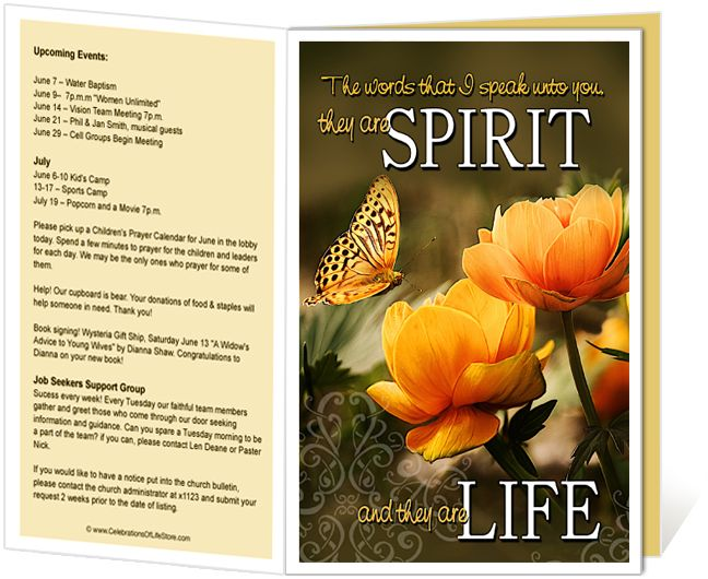 Church bulletin templates god 39 s word inscription quote for Free templates for church bulletins