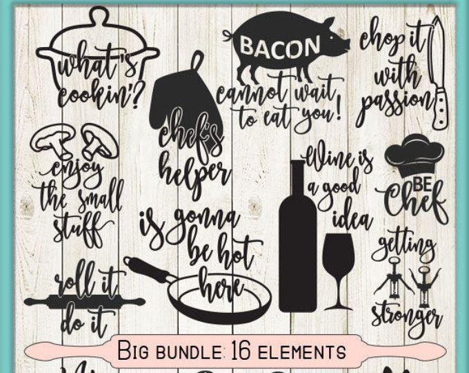 Chicken Printable Quotes: Kitchen Svg Bundle, Svg Files, Kitchen Printables, Song