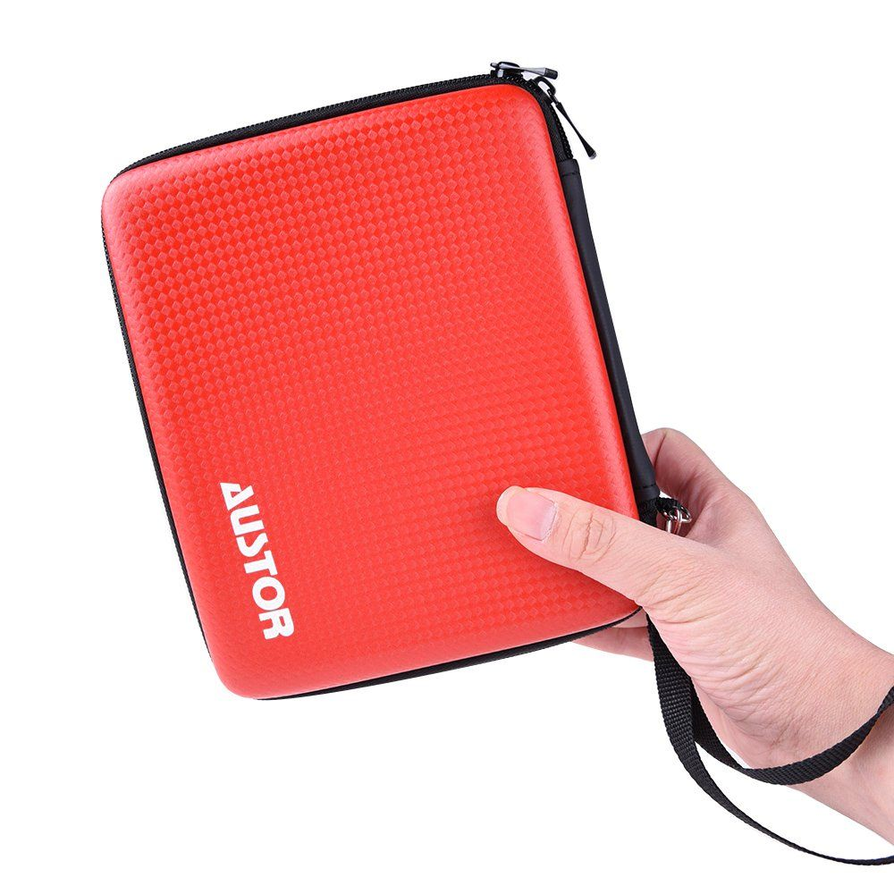 austor travel carrying case protective cover for nintendo 2ds red