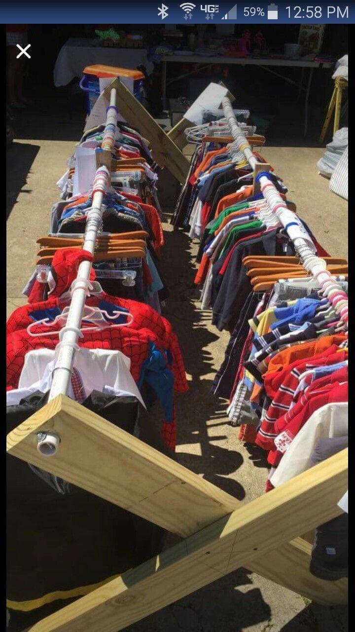 Three Woodworking Ideas To Make Money In Under Served Niches Yard Sale Clothes Rack Yard Sale Clothes Garage Sale Tips