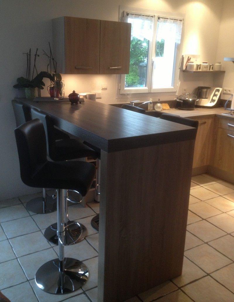 Plan De Travail Avec Jambage table haute / bar avec jambage | meuble bar cuisine, table