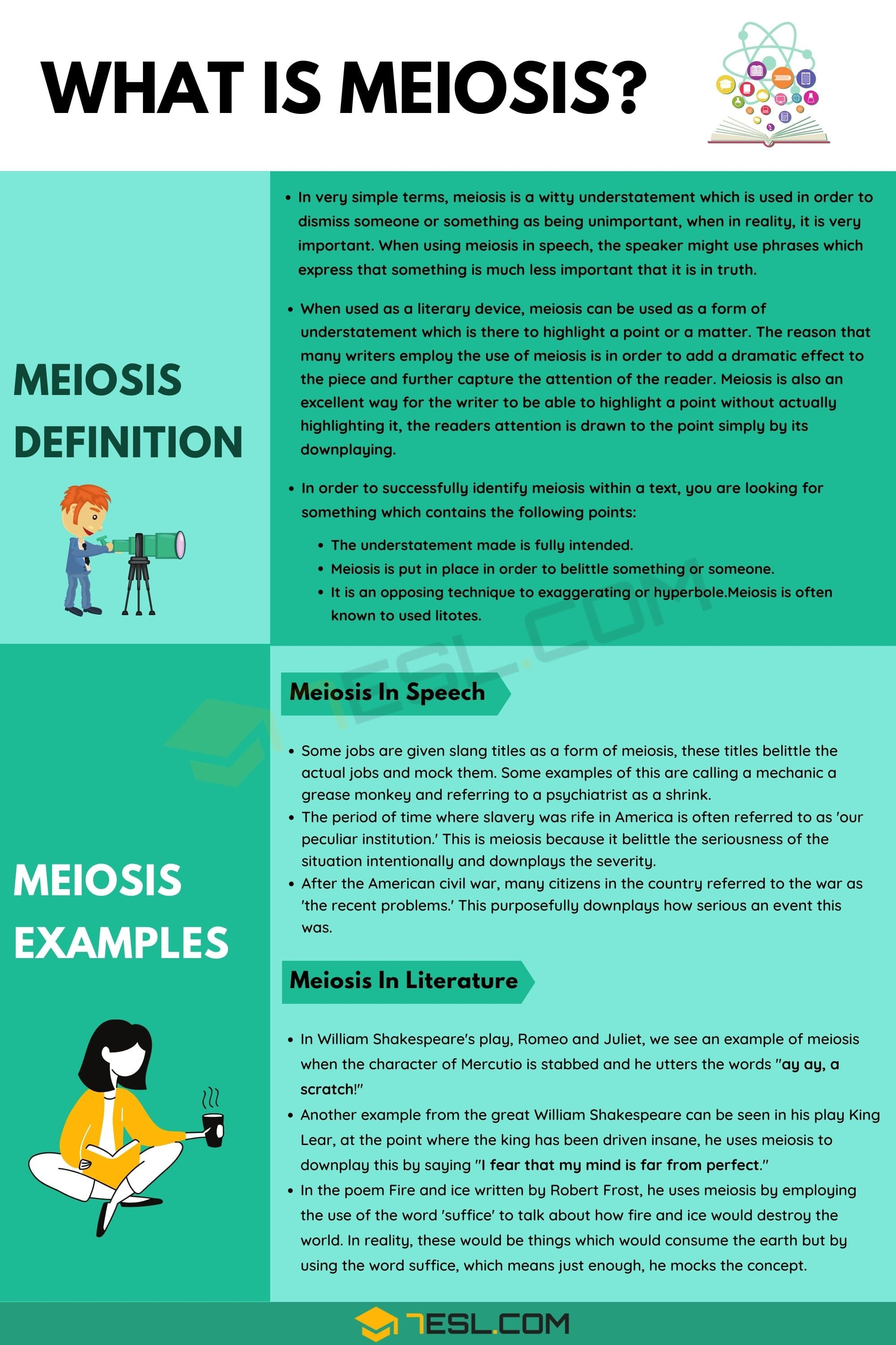 Meiosis Definition And Examples Of Meiosis In Speech And