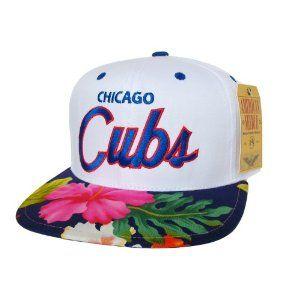 CHICAGO CUBS Snapback Hat - MLB Cap - Custom Snapback with Hawaiian Floral  Print Fabric - LIMITED EDITION 890858e4289