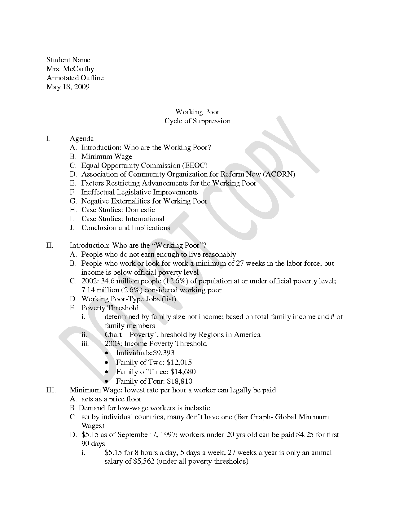 annotated outline example in apa format community essay example