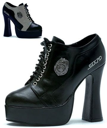 fb86e9b1a7e Sexy PD Police Shoes Womens High Heels with Platform   shoes ...