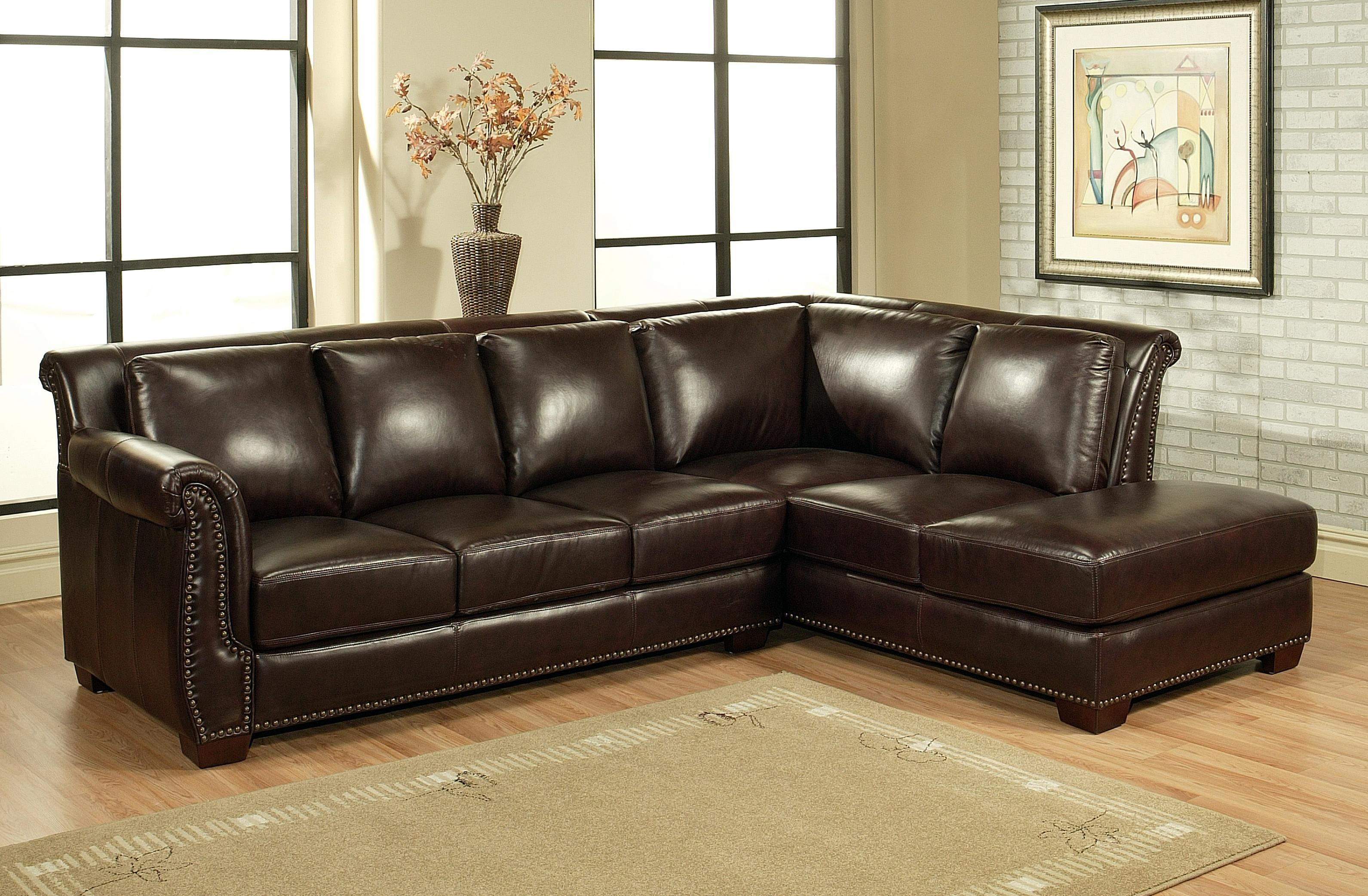 Bring Classic Inspiration And Timeless Elegance To Your Home With This  Beautiful Leather Sectional Sofa, Perfect As A Finishing Touch To Your Den  Or Living ...