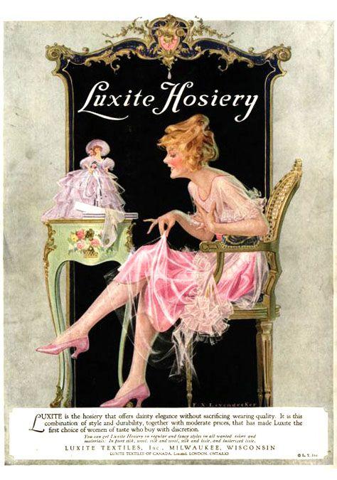 Hosiery ad...  F X Leyendecker. American Illustrator (1877-1924)
