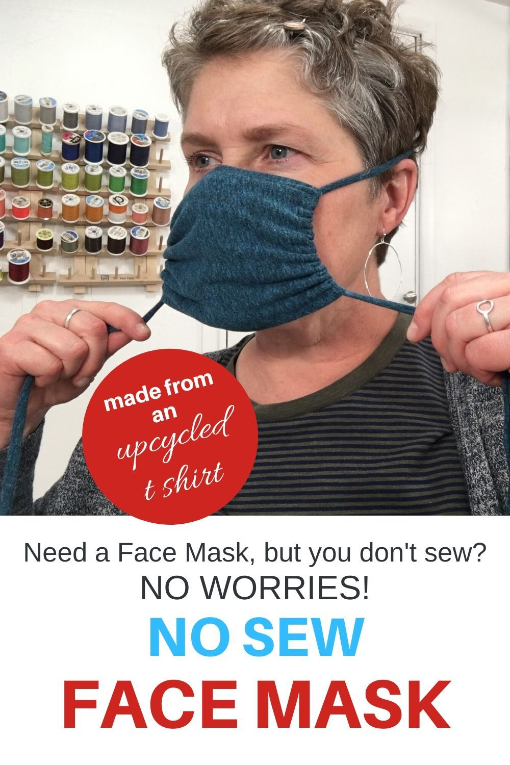 diy NO SEW Face Mask - Upcycled T Shirt - 5 Minutes - You Make it Simple
