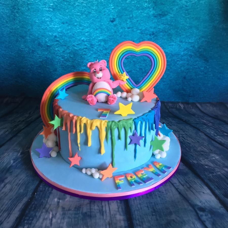 Pleasing 80S Baby Care Bears Cake Care Bear Cakes Birthday Cake Birthday Cards Printable Benkemecafe Filternl