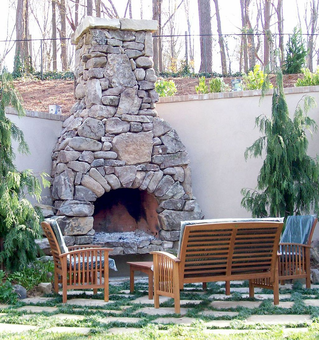 Nice 20+ Fabulous Rustic Outdoor Fireplace Designs https ... on Brick Outdoor Fireplace Ideas id=27895