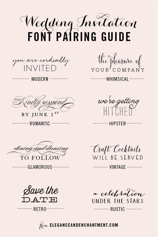 Wedding Invitation Font Pairing Guide | Popular Pins ...