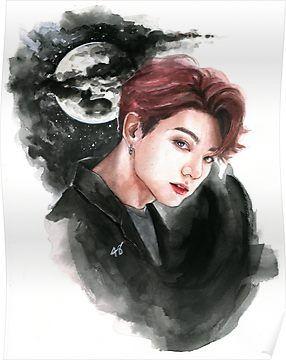 Jk Idol Poster Bts Drawings Jungkook Fanart Bts Fanart