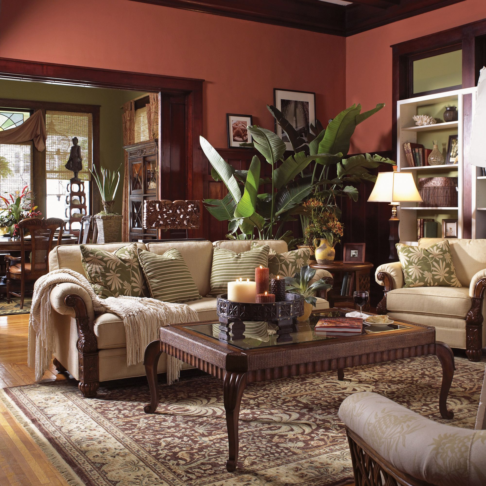 tommy bahama living room traditional sectional sofas furniture home benoa harbour set reviews wayfair