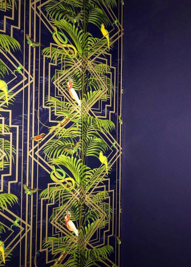 Holden Decor Congo Navy Wallpaper in 2020 Navy wallpaper