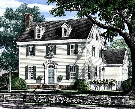 Plan 32441wp Appealing Colonial Home Plan Southern House Plans Colonial Exterior Colonial House Plans