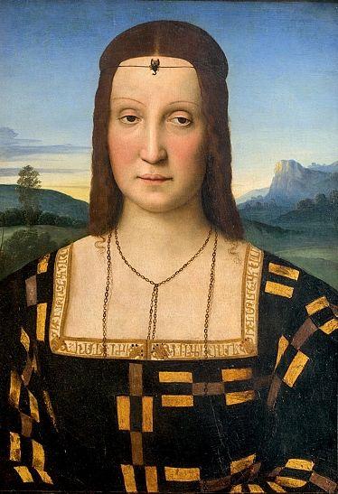 """Resultado de imagem para """"RETRATO DE ELISABETTA GONZAGA"""" (1504), de Rafael"""