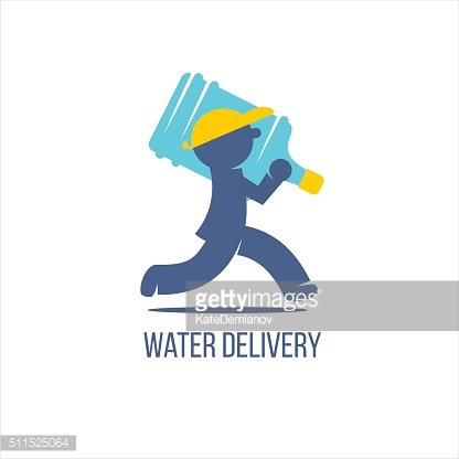 Water Delivery Service Delivery Man With Big Bottle On A Shoulder In 2020 Water Delivery Delivery Man Water Delivery Service