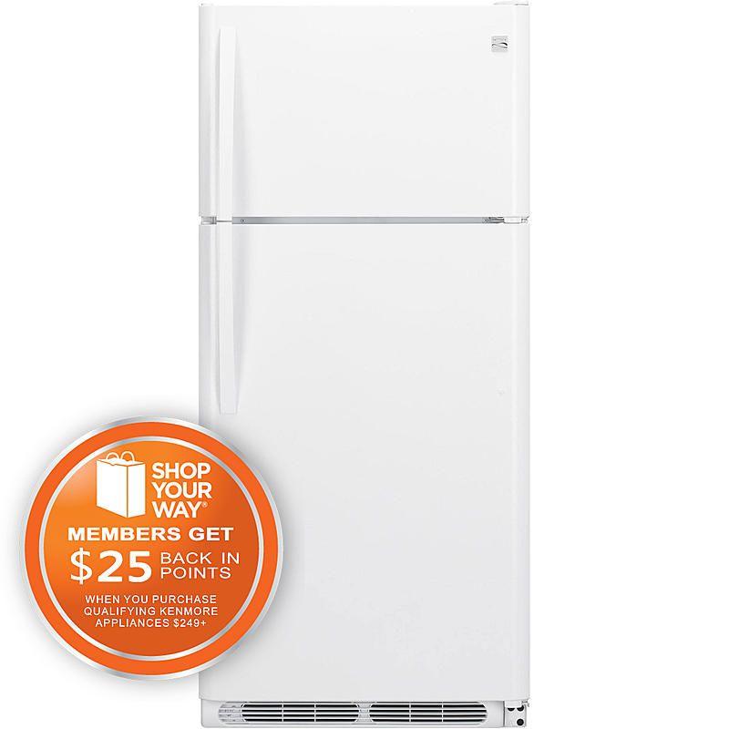 Kenmore - 60412 - 60412 18 cu. ft. Top Freezer Refrigerator w/ Wire ...