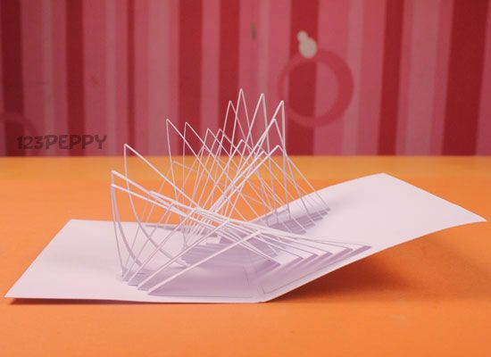 Learn How To Make Simple Pop Up Card With Our Step By Picture And Video Tutorials Online For Free