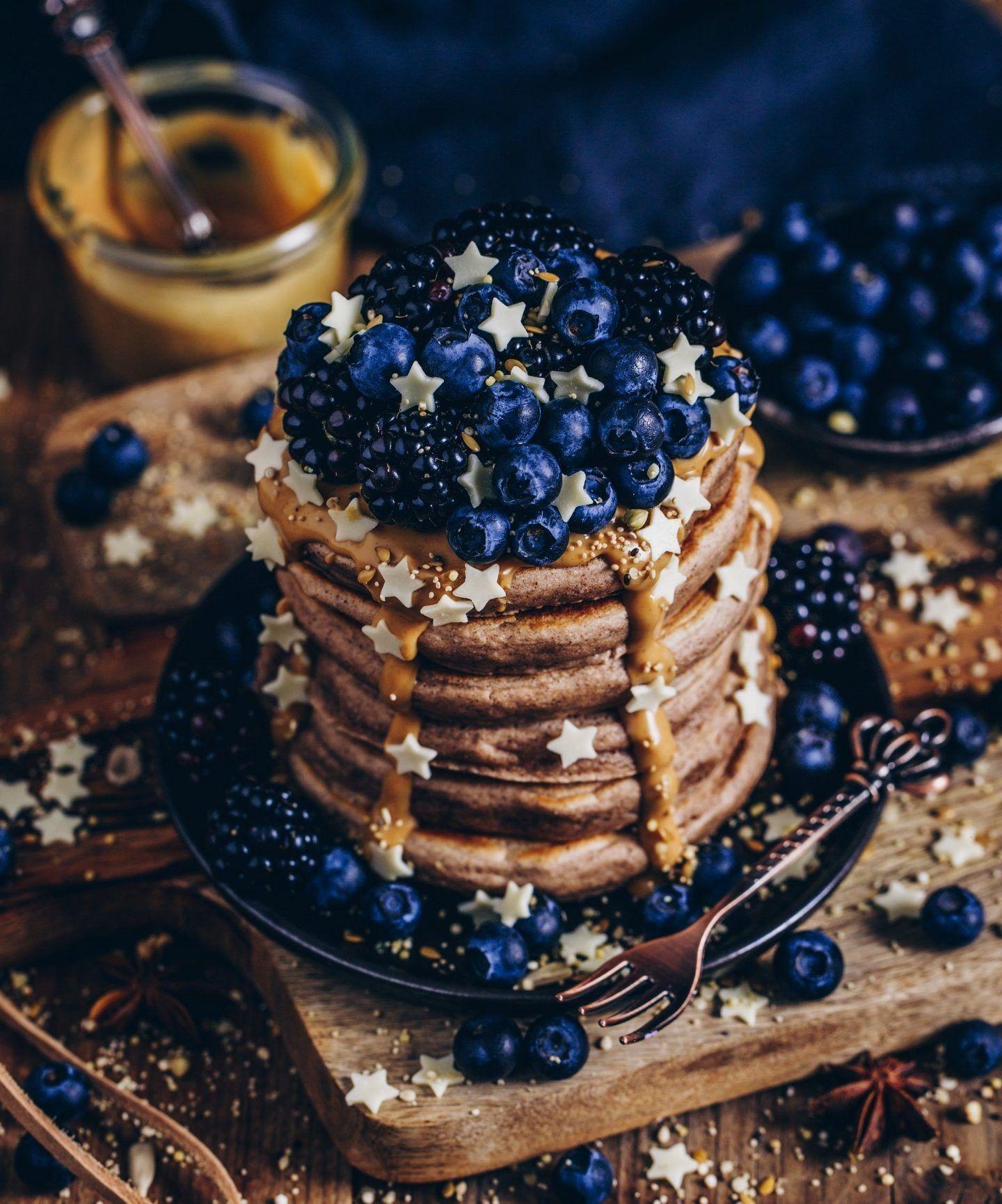 Zimt Pancakes (vegan - -Fluffige Zimt Pancakes (vegan - - Rezept für fluffige amerikanische Erdnu