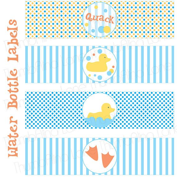 Rubber Ducky Printable Water Bottle Labels By