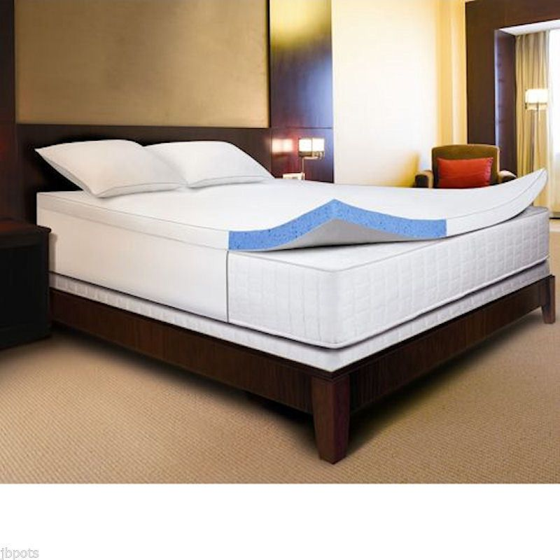 novaform comfortluxe gel memory foam 3 inch mattress topper with cotton cover novaform