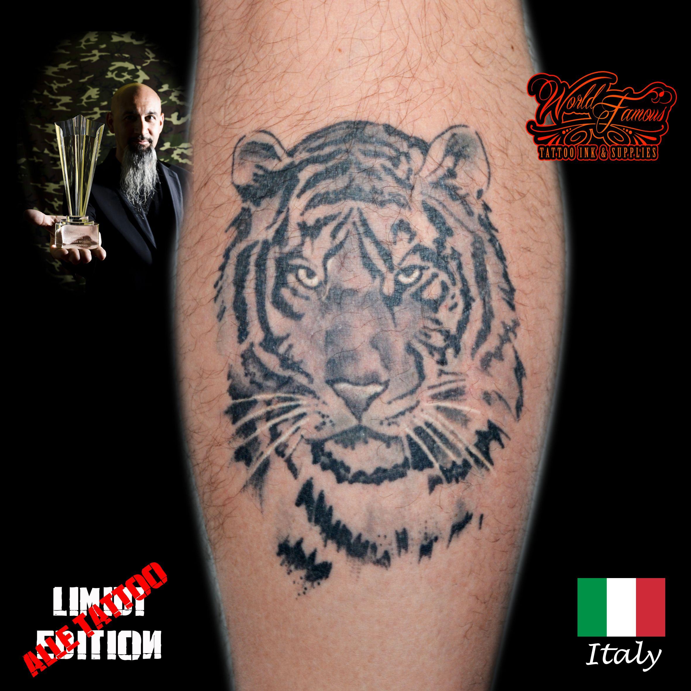 #alletattoo #tatuaggi #tattoo #realistic #tiger #tigre MUY HERMOSO EXCELENTE TRABAJO