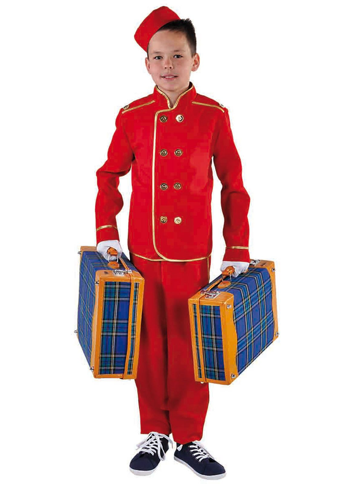 Halloween Hotel Bellhop Costume Red Toddler T-Shirt