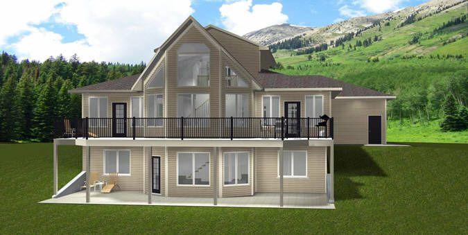House Plan 2014843 1 1 2 Storey Walkout By Edesignsplans Ca Triple Oversize Garage S Basement House Plans Craftsman House Plans Cottage Style House Plans