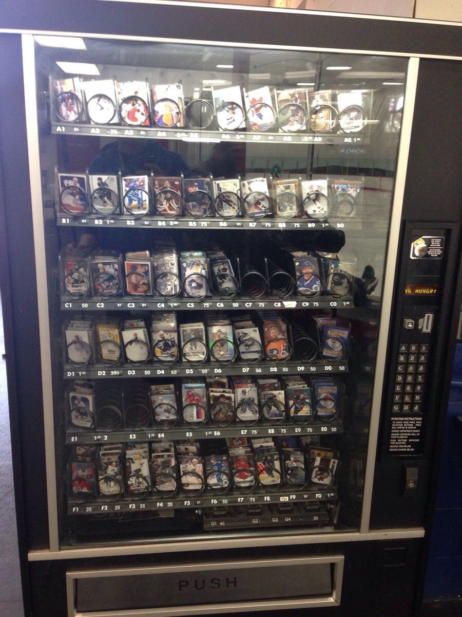 First time ive seen a hockey card vending machine