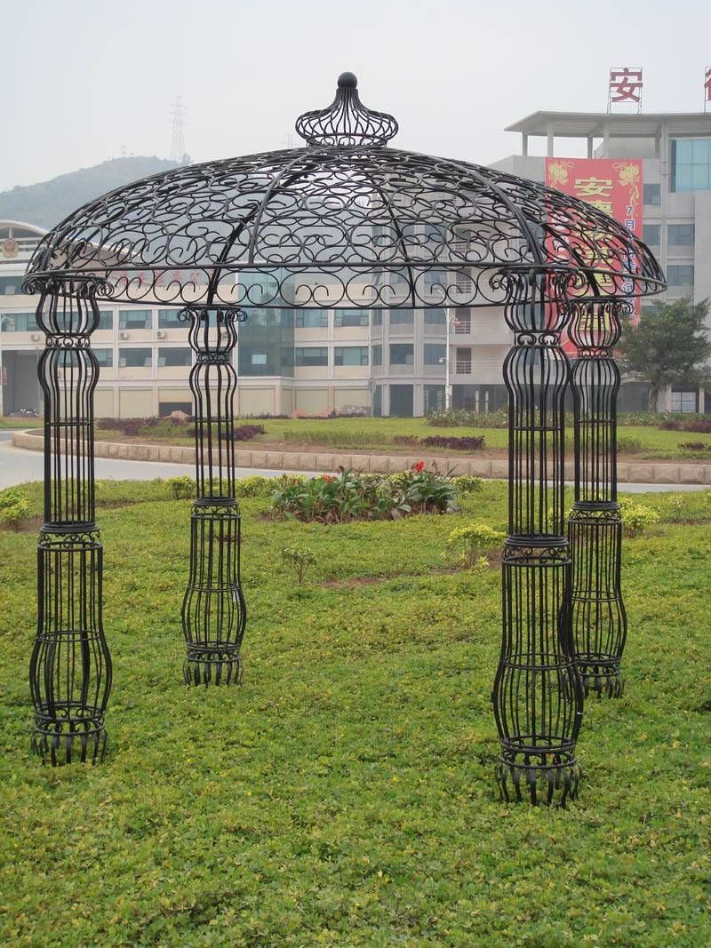 Metal gazebo emergency kits costco metal gazebo kits for Metal frame pergola designs