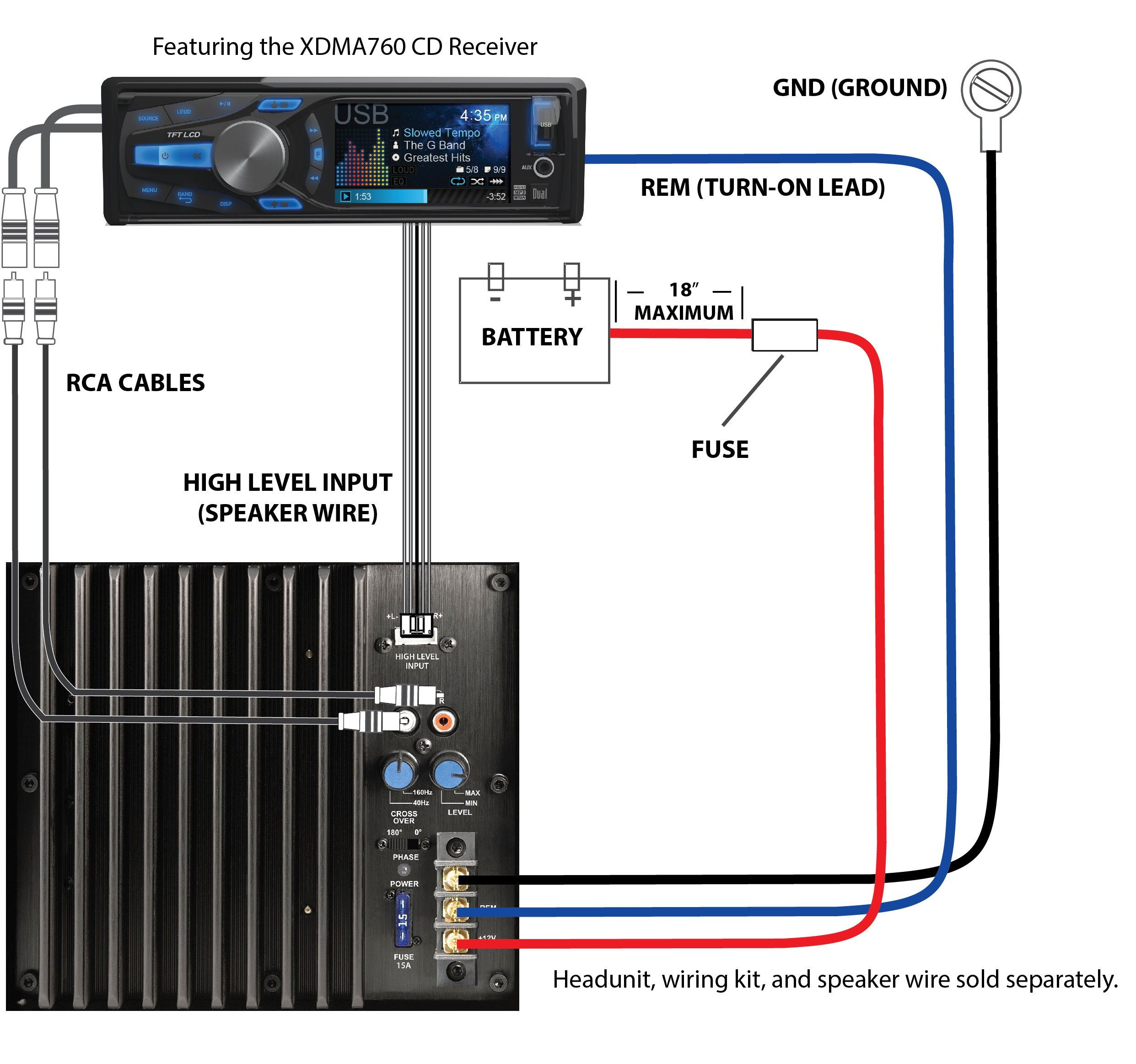 New Car Stereo Wiring Diagram With Amplifier