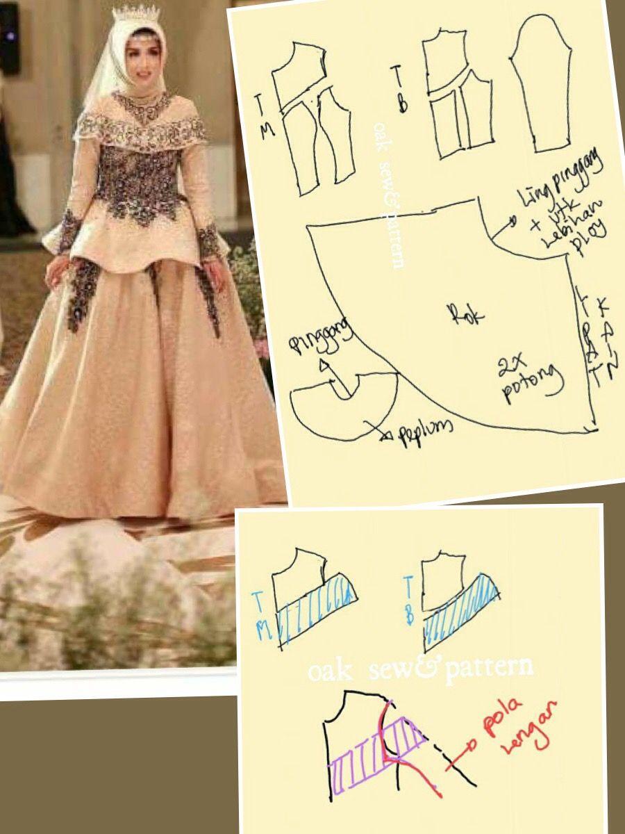 Pin oleh Nursani di Pecah Pola  Baju pengantin, Model baju wanita