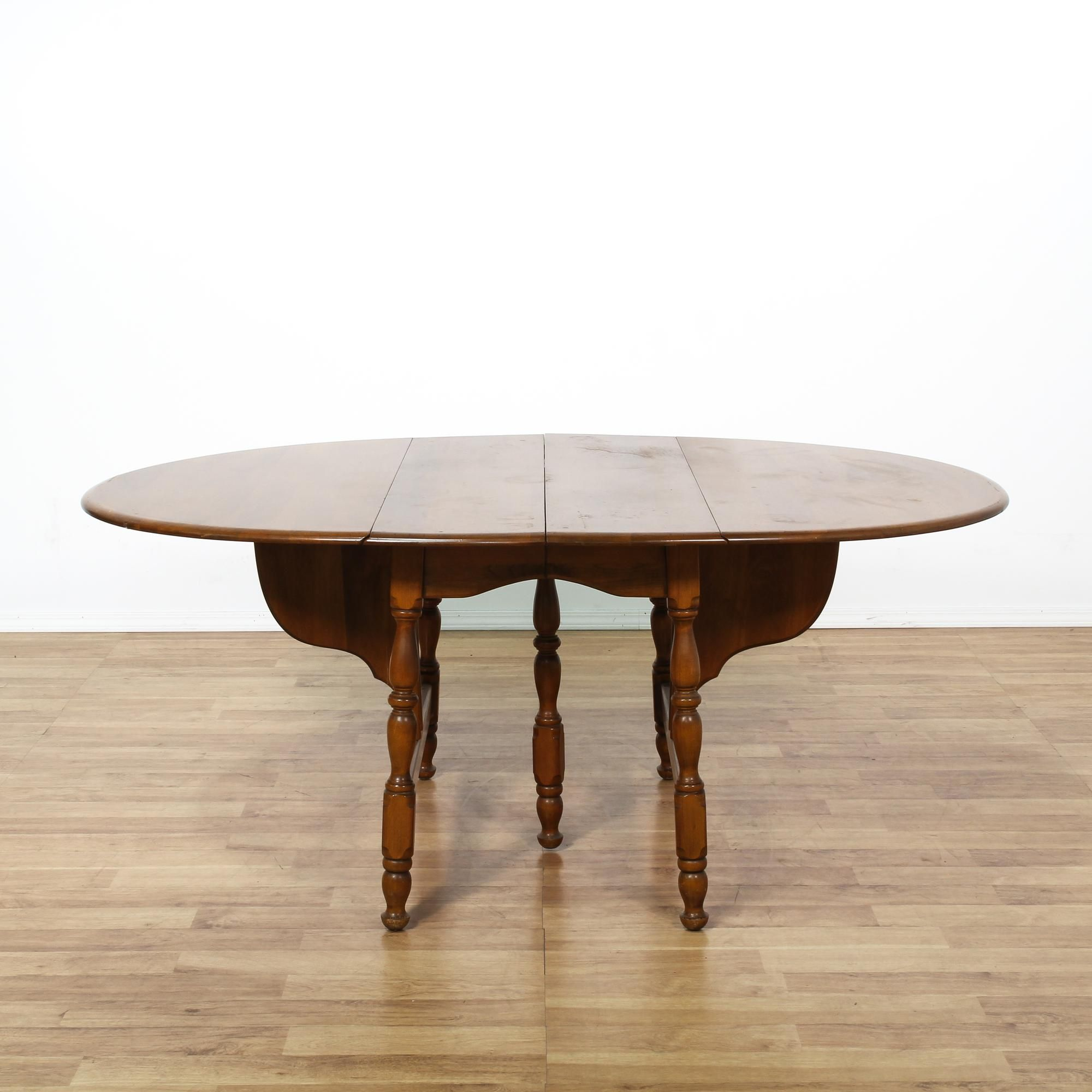 drop leaf oval dining table | oval dining tables, los angeles and