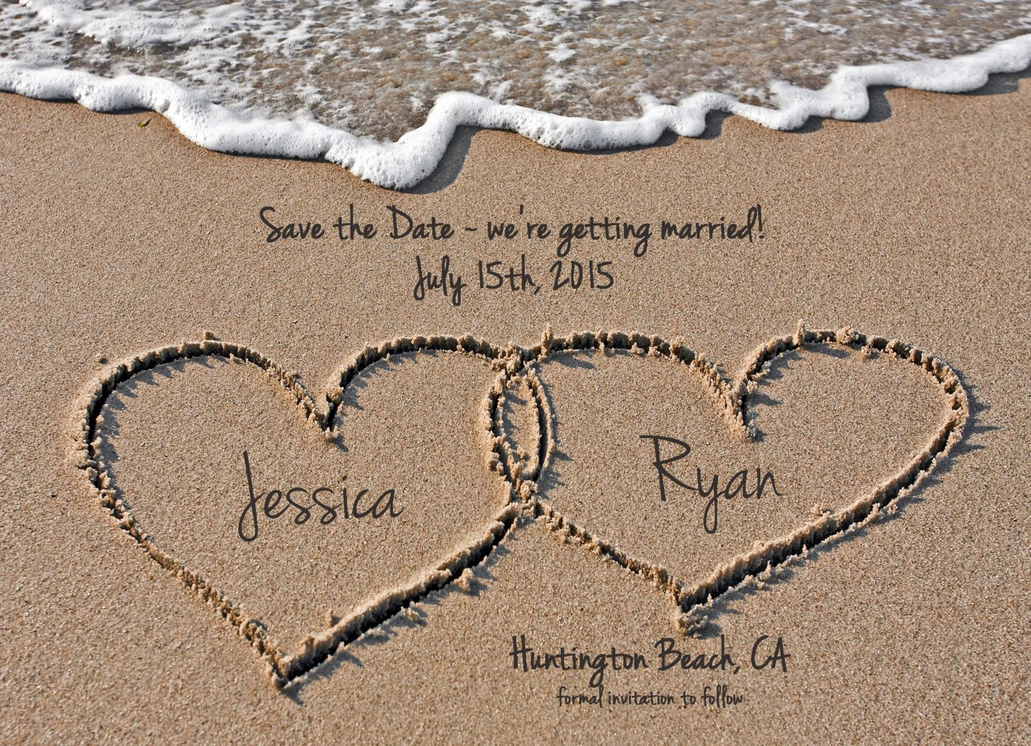 Beach save the date destination wedding save the date