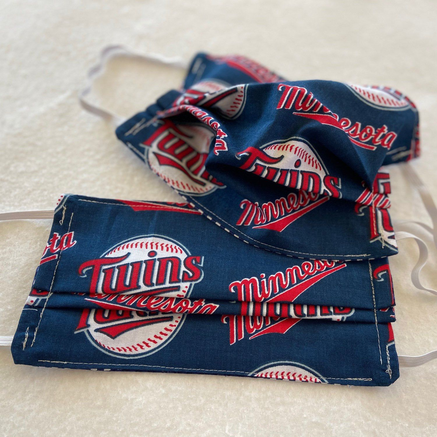 Coolspoolfabrics Shared A New Photo On Etsy In 2020 Face Cover Twins Baseball Layer Mask