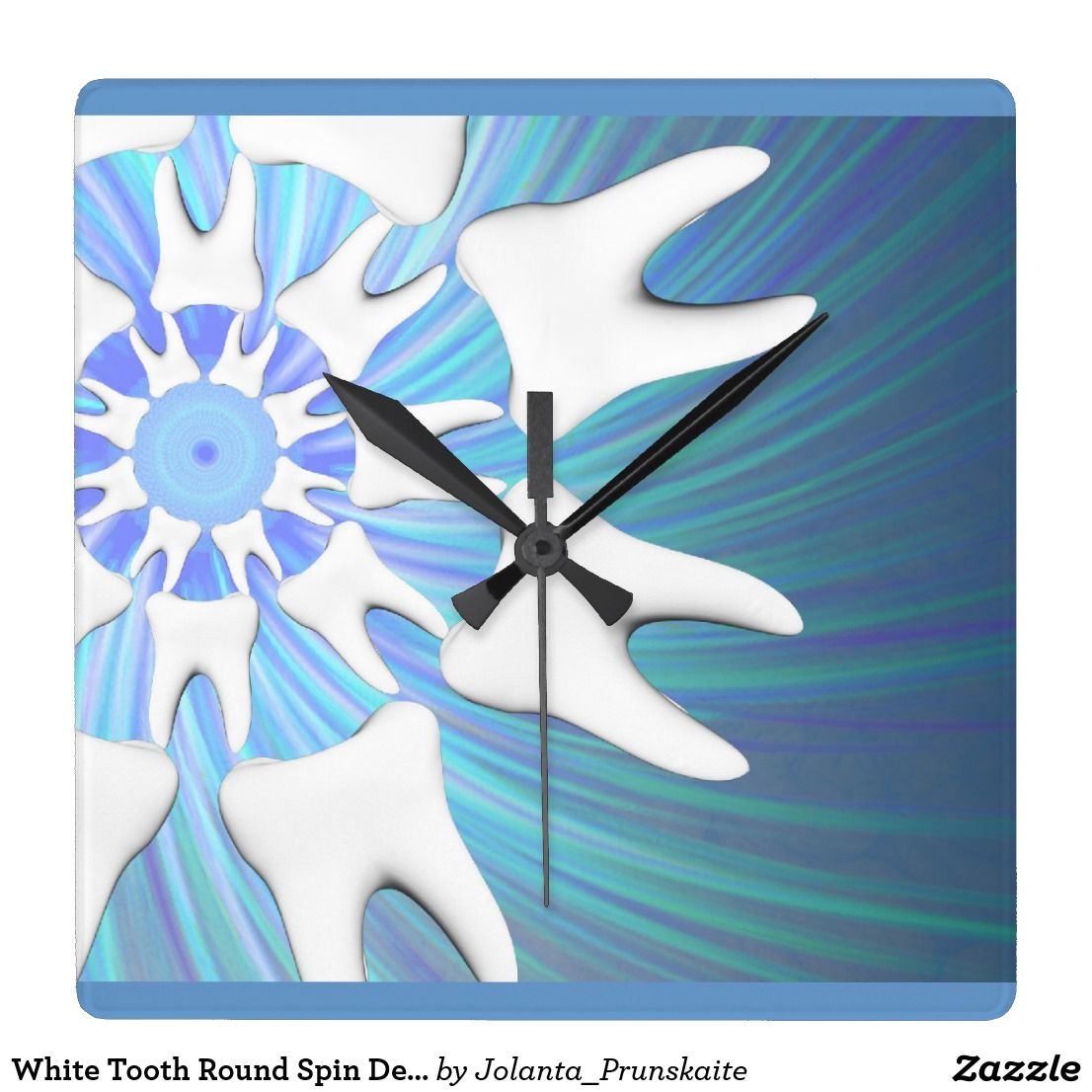 White tooth round spin dentist wall clock clocks pinterest