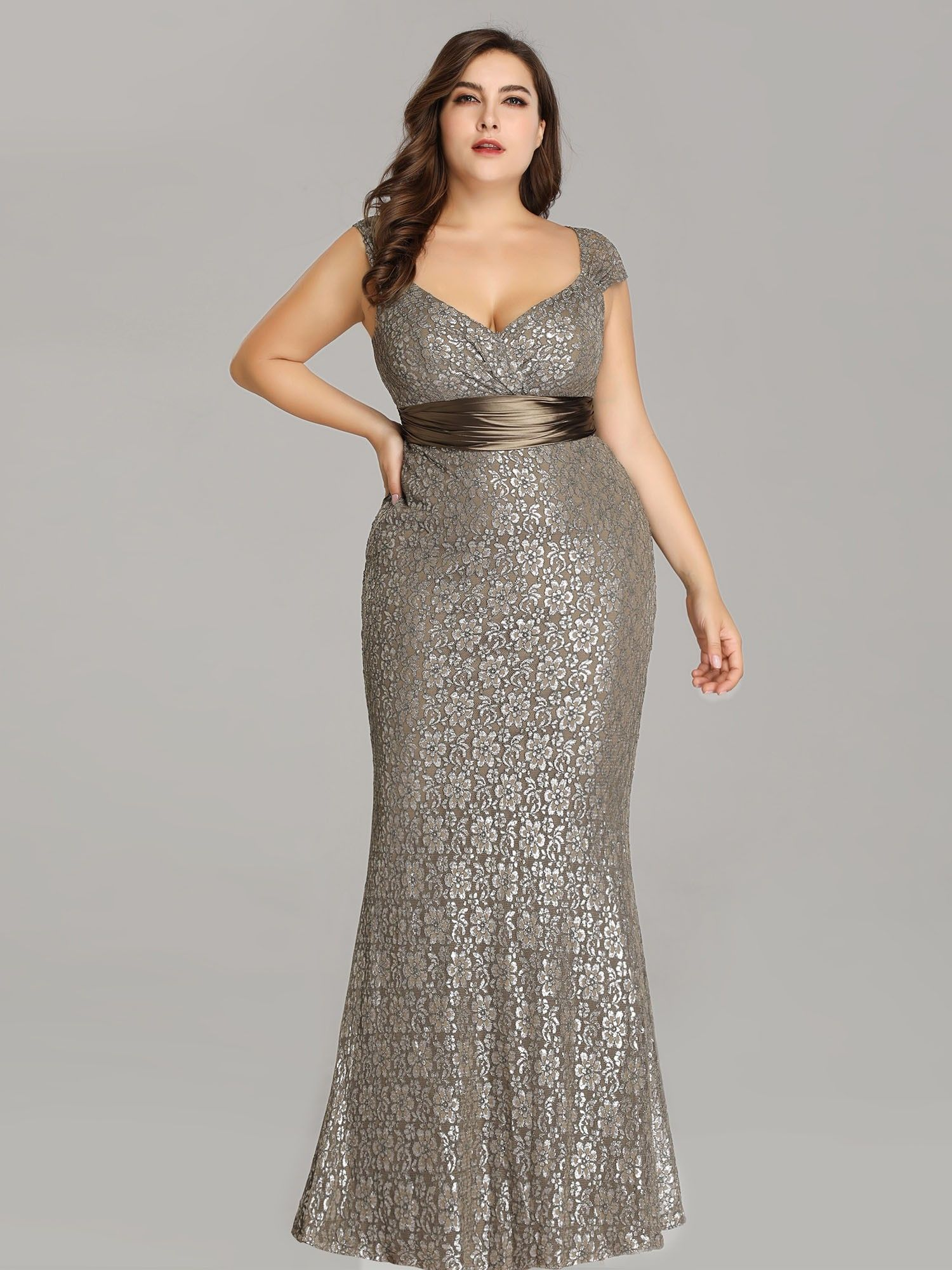 9cebdc8632 Plus Size Floor Length Lace Evening Party Dress | Ever-Pretty #lacedress  #plussizedress #plsusizeeveningdress #eveningdress #EverPretty #longdress
