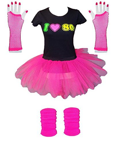 8fe8680af0 I Love 80s Ladies Fancy Dress Outfit - XS to 3XL | clothing | 1980s ...