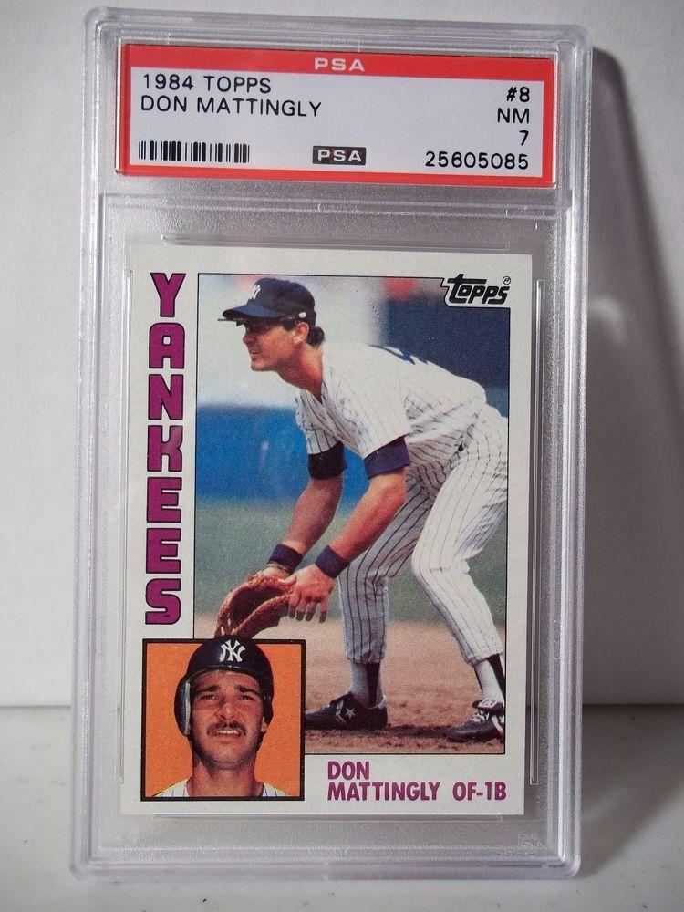 1984 Topps Don Mattingly RC PSA Graded NM 7 Baseball Card