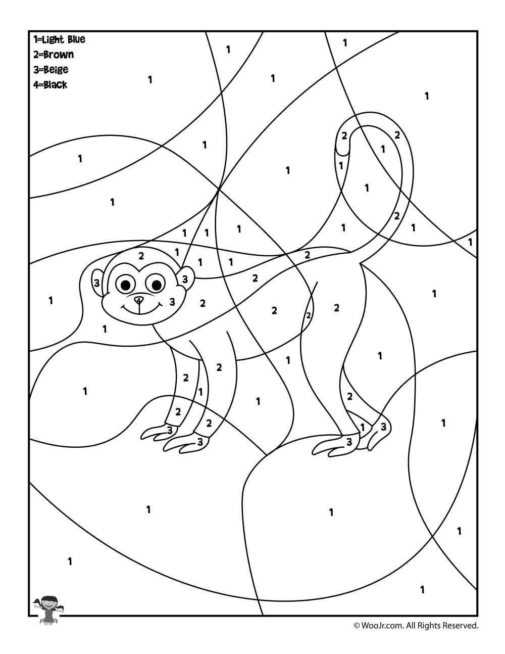 Preschool Color By Number Animal Coloring Pages Woo Jr Kids Activities Animal Coloring Pages Coloring Pages Preschool Colors