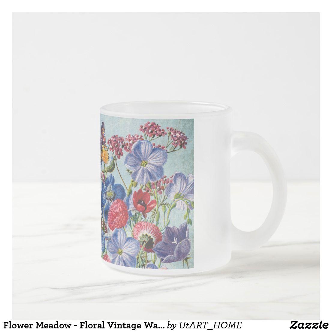 Flower Meadow - Floral Vintage Watercolor Coffee Mug